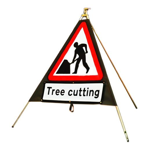 Tree Cutting Folding Warning Sign 750mm Barriers Amp Signs