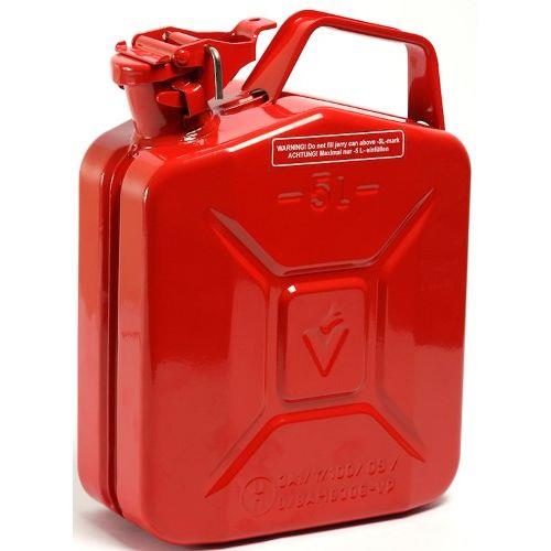 Red Metal Fuel Jerry Petrol Can 5l Petrol Fuel Cans
