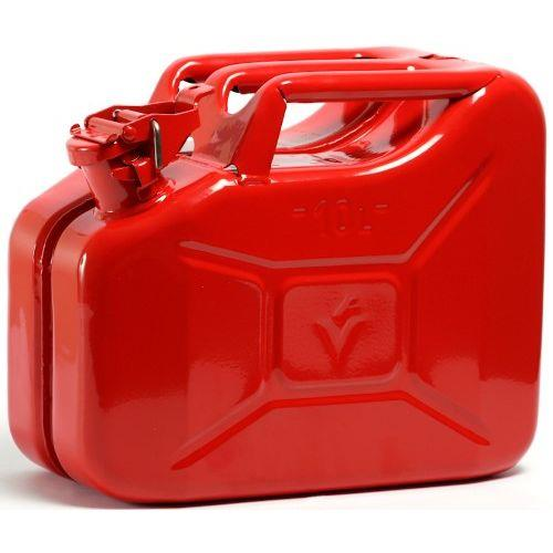 Red Metal Fuel Jerry Petrol Can 10l Petrol Fuel Cans