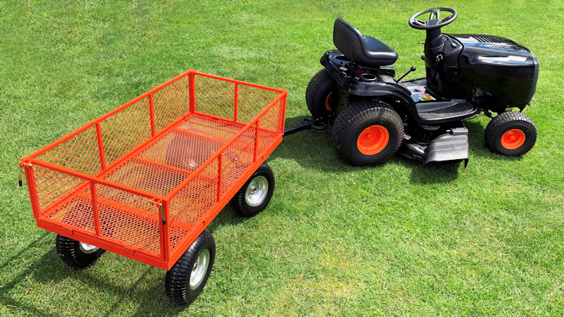 Sherpa Large Utility Garden Cart with Puncture Proof Tyres and Liner 450KG SLGT3 from Mower Magic