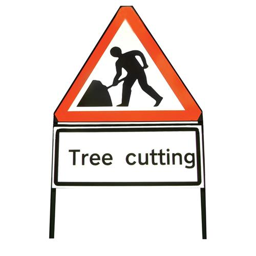 Tree Cutting Warning Sign 600mm Barriers Amp Signs Mower