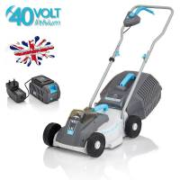 Swift Compact Cordless 32cm Hand Propelled Lawnmower (Kit) 40v