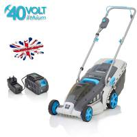 Swift Wide Cordless 37cm Hand Propelled Lawnmower (Kit) 40v