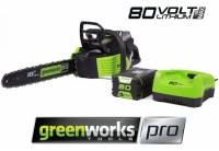 Greenworks Lithium Cordless Chainsaw with 2.0Ah Battery +  Charger 80v / 18in ON OFFER