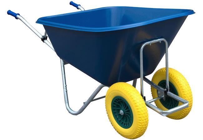 Big Blue Twin-Wheel Barrow with Flatproof Tyres 280L
